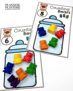 Count & Fill jars with the correct Number of Bears. - Morning Tubs: Bears