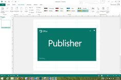 Microsoft Publisher --  DESIGN print documents with embedded media -- CREATE from scratch or from a variety of templates -- EXPORT in many formats, including JPEG