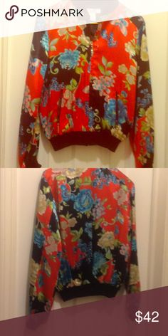 Silk Jacket Asian inspired 100% silk jacket.  New without tags Tops Sweatshirts & Hoodies