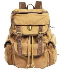 online shopping for Serbags Vintage Canvas Leather Travel Rucksack Military Backpack - Light Brown from top store. See new offer for Serbags Vintage Canvas Leather Travel Rucksack Military Backpack - Light Brown Black Tees, Rucksack Backpack, Hiking Backpack, Travel Backpack, Messenger Bag, Hiking Bag, Laptop Backpack, Camouflage, Vintage Leather Backpack