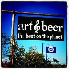 Art & Beer just south of Todos Santos, Baja, Mexico