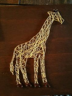 String Art/Giraffe String Art/Safari String Art