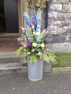 MAIA - Country Garden Wedding milk churn arrangement