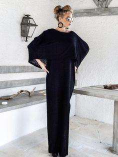 Warme Boucle wol Maxi Cape jurk Kaftan / Winter door SynthiaCouture