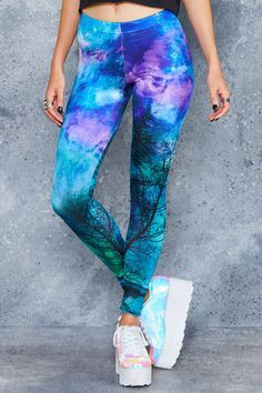 Forest In The Sky Leggings ($75AUD) by BlackMilk Clothing