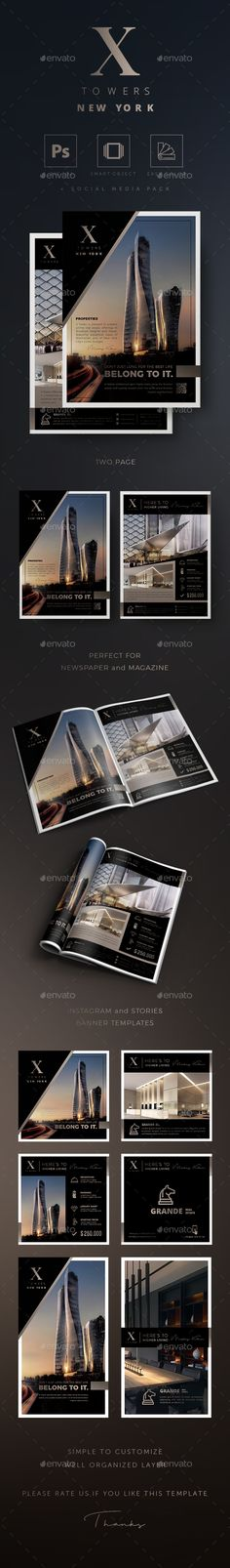 X Towers - #Real Estate Flyer - Events Flyers