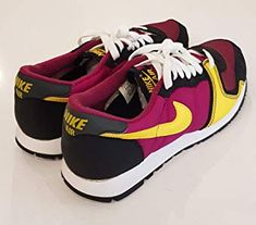121aed6a759b Nike Original 2005 Vengeance Trainers 307659 671 Raspberry Red Varsity  Maize-White-Black Retro 80 s Men s UK 7.5
