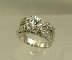figure eight engagement rings   Diamond Jewelery Engagement Wedding Rings Earrings Fashion Designs Gem ...