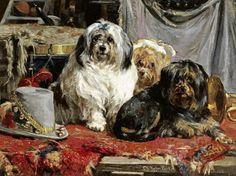 Artistas de circo, 1890 Charles van den Eycken (Bélgica, 1859-1923) óleo sobre tela, 43 x 46 cm