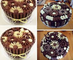How To Make Chocolate Flower Cake Decorations | The WHOot