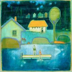 """This image belongs to Left Bank Gallery: Mary Bourke, """"Staying at the Cabin""""  Click to visit."""