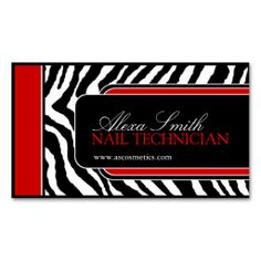 Zebra Print  Business Card. This is a fully customizable business card and available on several paper types for your needs. You can upload your own image or use the image as is. Just click this template to get started!