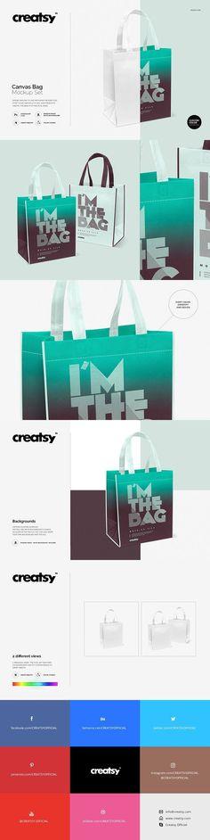 Canvas Bag Mockup Set. Product Mockups