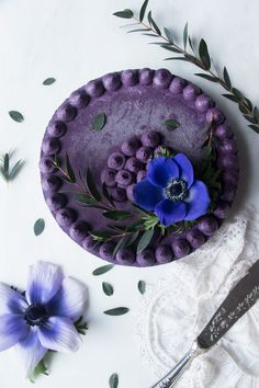 Wild Blueberry Vegan Cheesecake