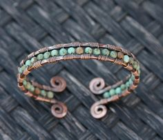 Copper+and+Turquoise+Cuff+Bracelet+by+AlaskaFirefly+on+Etsy