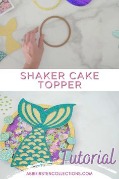 Shaker cake toppers have become a popular new way to decorate the top of cakes in a personal way. Today I will show you how simple it is to make these toppers – and with so many different unique touches or themes. #papercrafts #cricut #svg