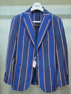 Broad stripe blazer, in my favourite colour: blue