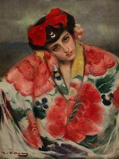 Ramón Casas, Joven con mantón.