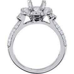 Item #: 650051:102:P  B  14kt White 1/2 CTW Diamond Semi-Mount Engagement Ring for 6.5mm Round Center Size 7   Stuller