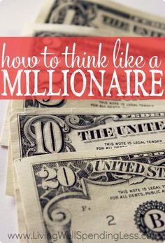 Becoming an actual Millionaire isn't all about saving.  To get there, you need to start thinking like one!
