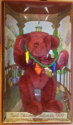 GUND TEDDY BEAR ~ Collectible 1999 Christmas Yulebeary NIB NEW Never Displayed