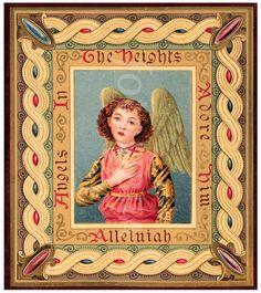Christmas Angel Victorian Card