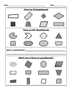 how to find out the classification of a quadrilateral