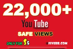 I will give you 22000+ real Safest YouTube views with 175 contextual SEO backlinks for $5