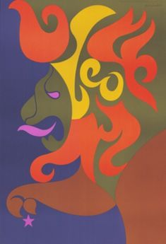 In 1969, Poster Prints commissioned Simboli Design to create a line of very graphically strong and colorful zodiac posters, which were were sold worldwide.