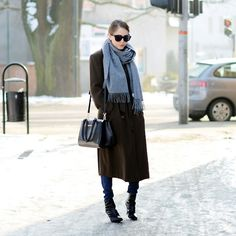 Get this look: http://lb.nu/look/7084448  More looks by Kasia Gorol: http://lb.nu/user/63384-Kasia-G  Items in this look:  Acne Studios Scarf, Valentino Bag, Céline Sunglasses, Clarks Boots