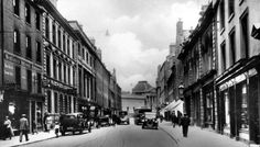 Old photograph of George Street in Perth, Perthshire, Scotland