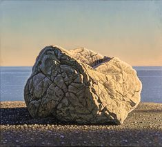 David Ligare Still-Life Painting - Rock and Sea