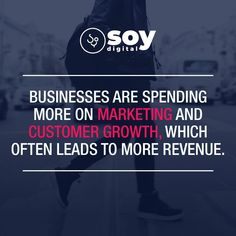 Businesses are spending more on marketing and customer growth, which often leads to more revenue. Want to see how we can help with your digital marketing strategy? Just drop us a line at SOY Digital. Digital Marketing Strategy, Sales And Marketing, Business, Store, Business Illustration