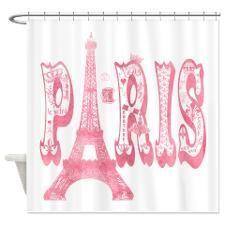 Vintage Paris Eiffel Tower Shower Curtain Pariseiffeltower