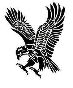 Tribal Eagle Art Print by jsharts Tribal Eagle Tattoo, Cool Tribal Tattoos, Tribal Sleeve Tattoos, Eagle Tattoos, Wolf Tattoos, Hawk Tattoo, Silhouette Aigle, Adler Silhouette, Eagle Drawing