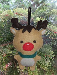Decoration de Noel, renne du pere Noel, Rudolf, decoration pour sapin de  noel