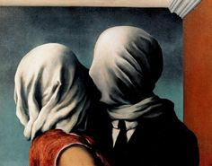 Rene Magritte - The Lovers - a major figure in the Surrealist movement and is considered by many to be the greatest Belgian artist of the century. From 1916 – Magritte studied at the Académie Royale des Beaux-Arts in Brussels under Constant Montald Rene Magritte The Lovers, Magritte Paintings, Artist Magritte, Art Paintings, Renoir, Museum Of Modern Art, Surreal Art, Oeuvre D'art, Love Art