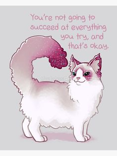 Uplifting Words Of Encouragement Through Animal Illustrations - World's largest collection of cat memes and other animals Inspirational Animal Quotes, Cute Animal Quotes, Cute Animals, Cat Quotes, Qoutes, Cute Animal Drawings, Cute Drawings, Beautiful Drawings, Dibujos Anime Chibi