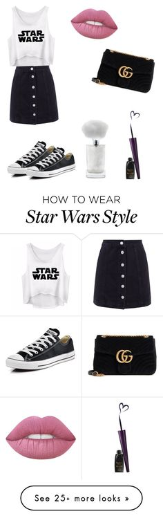 """Always STAR WARSSSS☄️"" by krisiee on Polyvore featuring Gucci and Converse"