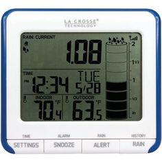 La Crosse Technology Digital Rain Gauge With Outdoor Temperature Sensor
