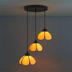 ペンダントライト ティファニーライト ステンドグラス照明 天井照明 3灯 1028-ST08004A