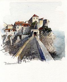 Tony Belobrajdic   WATERCOLOR Dubrovnik