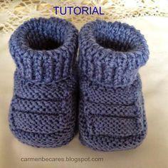 TUTORIAL  Tamaño para 3-6 meses. Ten en cuenta que cuanto mas gruesa sea la lana, el resultado de la labor será  de mayor ta...