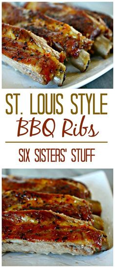 Easy St. Louis Style Ribs - Six Sisters' Stuff | Looking for a great barbecue recipe? This one is always a favorite and great for summer gatherings! #sixsistersrecipes
