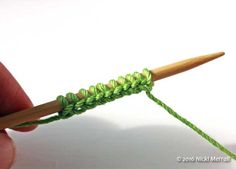 Crochet cast-on: You now have the correct number of stitches on the knitting needle.