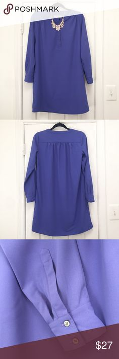 Ann Taylor LOFT Tunic Blouse Pretty Fusion of Purple and Blue in Color. Like the majority of the other items in my closet this item is in Perfect LIKE NEW Condition. No holes, stains, or loose ends. LOFT Tops Tunics