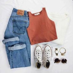 outfit goals Mom Jeans und Converse All Star White. Mom Jeans und Converse All Star WhiteMom Jeans und Converse All Star WhiteMom Jeans und Converse [. Teenage Outfits, Teen Fashion Outfits, Mode Outfits, Outfits For Teens, Womens Fashion, School Outfits, Rue 21 Outfits, Casual Teen Fashion, Teenager Fashion