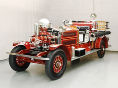 1925 Ahrens-Fox Firetruck....looks pretty close.to the same Ahrens-Fox the OSU Fire Protection Society has!! Had fun getting to ride on that old truck!!