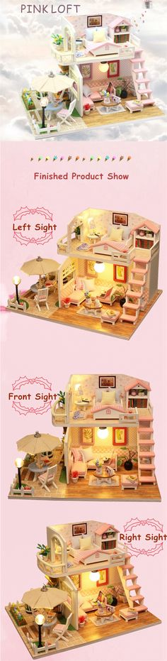 Smart Hot Sale Diy Alice Glass Castle 3d Miniature Assemble Model Creative Diary Building Dollhouse Kits With Funitures Festival Gifts Special Summer Sale Toys & Hobbies Architecture/diy House/mininatures