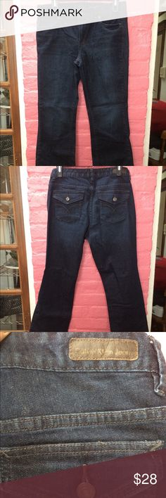 Calvin Klein Lean Boot Jeans Only worn a handful of times, good condition, size 8 Calvin Klein Jeans Jeans Boot Cut